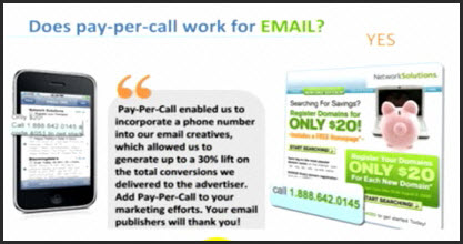pay per call email marketing