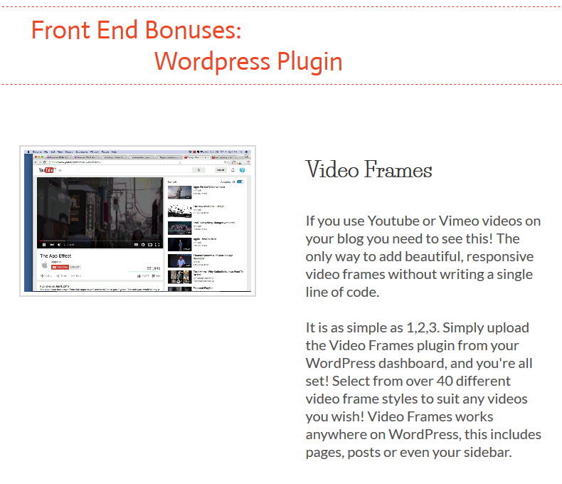 Video Frames Bonus