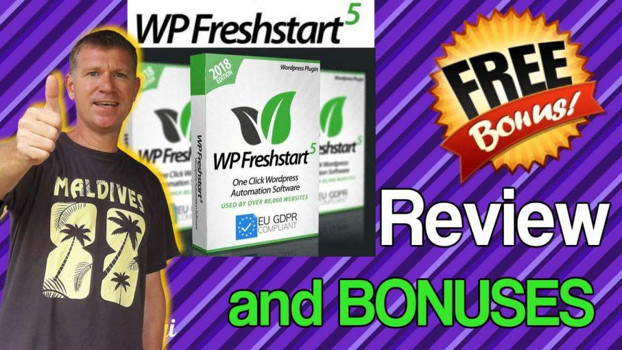 WP Freshstart 5 Review and Bonuses Stef Grandgi