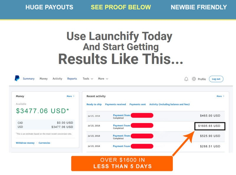 Launchify review and bonus Stef Grandg income proofjpg
