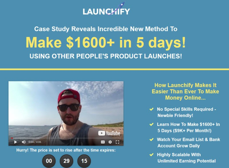 Launchify review and bonus Stef Grandgi sales claim