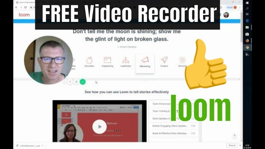 Loom Review Free Screen and Video Recorder via Stef Grandgi