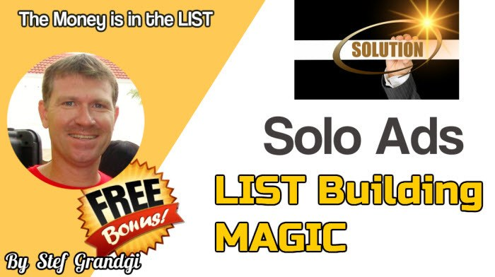 Solo Ad List Building Magic Stef Grandgi Bonuses