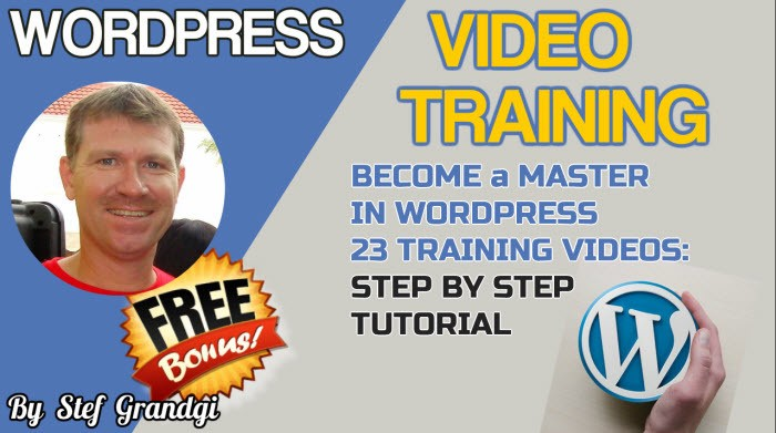 Wordpress Video Training Stef Grandgi